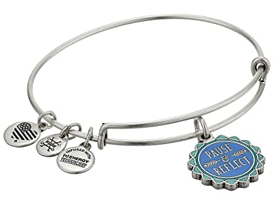 Alex and Ani Pause and Reflect Charm Bangle (Rafaelian Silver) Bracelet
