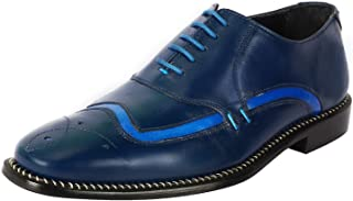 Liberty Oxford Dress Shoes for Men Genuine Leather Knitted Print Lace Up Formal Business Shoes