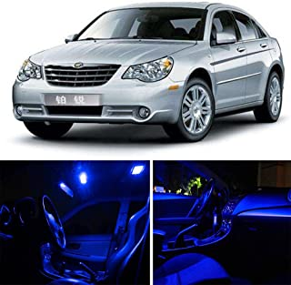 SCITOO 15Pcs Blue Package Kit Accessories Replacement Fits for Chrysler Sebring 2006-2010 LED Bulb LED Interior Lights