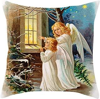 Throw Pillow Case, Halloween Decorations, Jessie storee Thanksgiving Watercolor Pumpkin Peach Skin Velvet Throw Pillowcase Cushion Cover for Room Bedroom Sofa Chair Car, 18 x 18 inch, 45 x 45 cm,