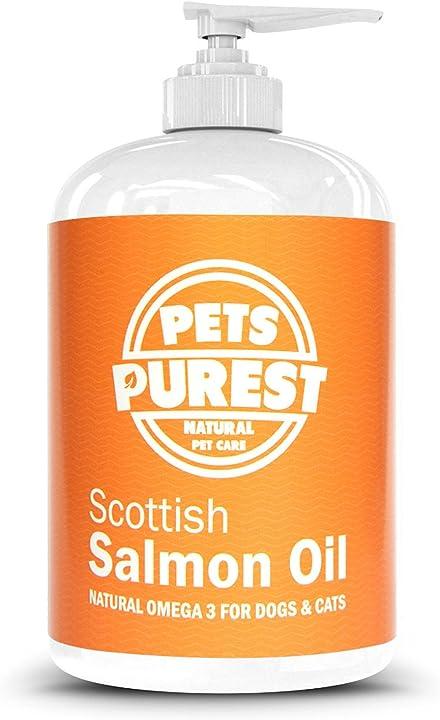Integratore omega 3 alimentare per animali 100% naturale con puro olio di salmone omega 3 PP-1L-SALMON