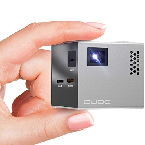 815c61aada01f9 RIF6 Cube Full LED Mini Projector - 1080p Supported Portable Projector with  Built-in Speakers