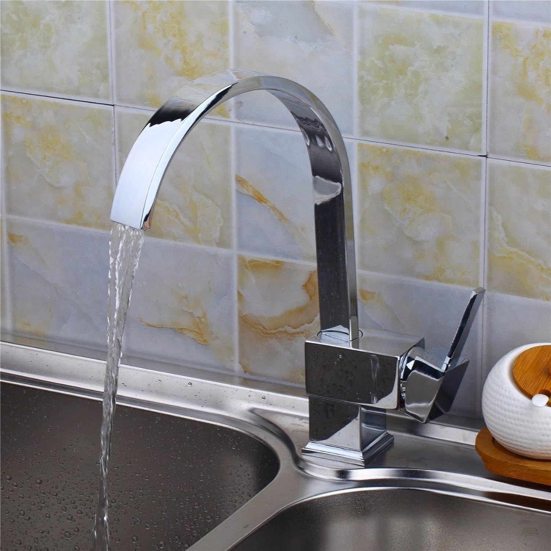 Retro Deluxe Faucetinging Polish Chrome Kitchen Faucet Finish,Water tap Kitchen Swivel Spout Vanity Sink Mixer Tap Single Handle Faucet