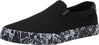 حذاء رياضي رجالي كلاسيكي أنيق سهل الارتداء من Lugz، أسود/أبيض رش، 6.5