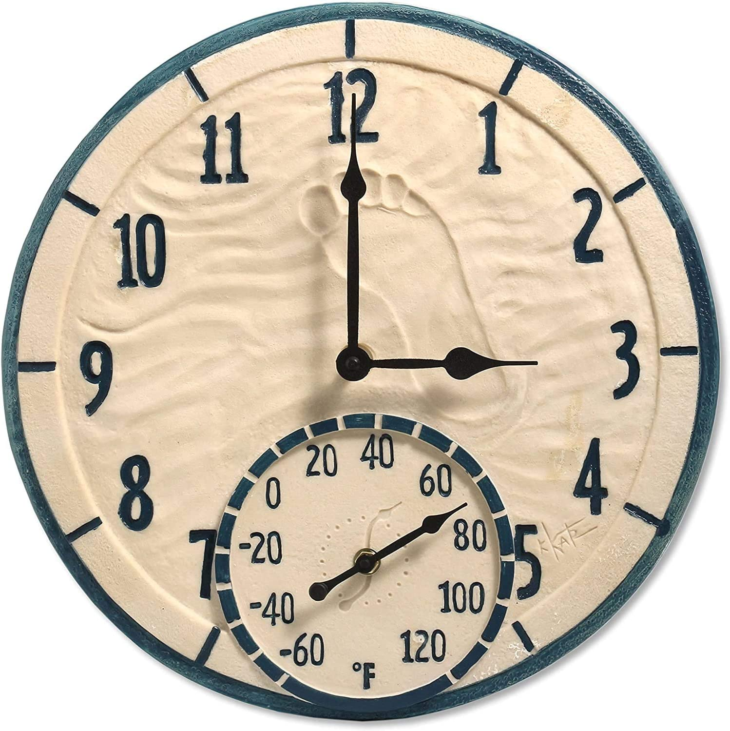 Taylor Precision Products 14 by The Sea Clock with Thermometer ...