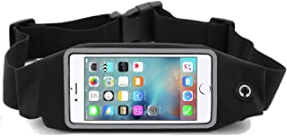 i2 Gear Running Belt Waist Pack - Cell Phone Holder with Zipper Pouch Compatible with iPhone 11 Pro Max, LG G6, G8 ThinQ, V30, Samsung Galaxy S10+, S9+, Huawei Mate 30 Pro, Moto G7 Power, Zoom