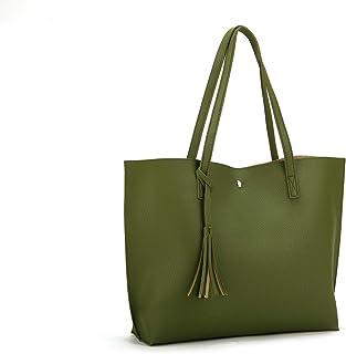 213ad51ef7ce41 Nodykka Women Tote Bags Top Handle Satchel Handbags PU Pebbled Leather  Tassel Shoulder Purse