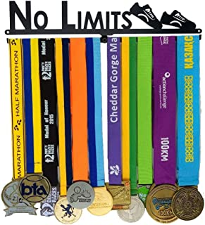 No LIMITS - Inspiring medal hangers, physical educationsports medal hangers, gymnastics, swimming, running medal hangers, all sports medal hanger display stands - men, ladies, boys and girls - easy to