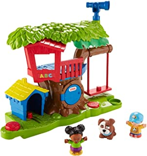 Conjunto de casita del árbol de Fisher-Price Little People Swing & Share