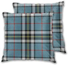 Throw Pillow Case Cushion Cover Clan Mactavish (Thompson) Dress Tartan Small Set of 2 Square Pillowcases Sham Home for Sof...