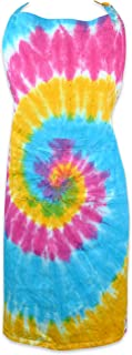 """DII Cotton Adjustable Tie Dye Kitchen Chef Apron with Pocket and Extra Long Ties, 32 x 28"""", Men and Women Apron for Cookin..."""