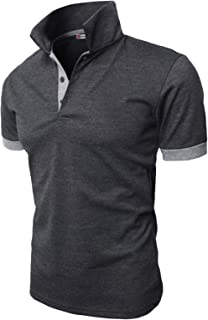 H2H Mens Casual Slim Fit Polo T-Shirts Basic Designed with Giraffe Embroidery