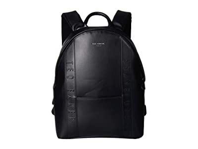 Ted Baker Dominoe Debossed Backpack (Black) Backpack Bags