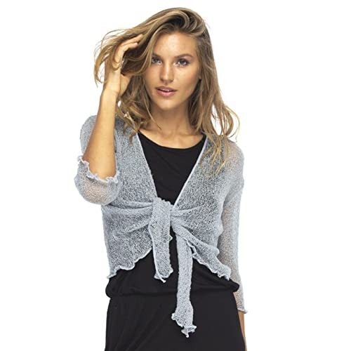 686fd6e97db1db Back From Bali Womens Sheer Shrug Cardigan Lightweight Knit