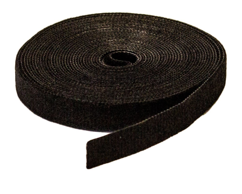 NavePoint 1/2 Inch Roll Hook and Loop Reusable Cable Ties Wraps Straps - 5M 15ft