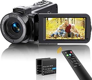 Caméscope Caméra Vidéo FHD 1080P 36MP 30FPS Vlogging Caméra pour Youtube Version Nuit IR Zoom Numérique 16X Camescope 3....