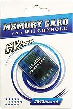 Cartão de memória AreMe para console GC Nintendo Wii Gamecube, Clear Blue, 512MB