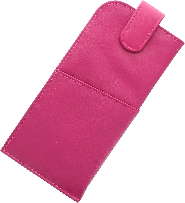 Custodia occhiali di pelle Mala Leather Nappa con chiusura magnetica 5104/_14m Rosa