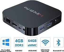 Mini PC Windows 10 Pro OS(64 Bits) with Intel Atom X5-Z8350 Processor HD Graphics 4GB RAM + 64GB Storage, Fanless Mini Desktop Computer with Dual Band WiFi AC/Bluetooth 4.2,Ethernet and HDMI Port