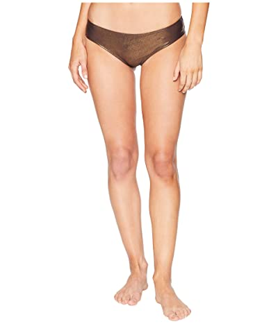 Vince Camuto Sunshine Metallic Shirred Smooth Fit Cheeky Bikini Bottom (Bronze) Women