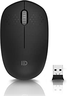 Wireless Mouse, USB Mini Portable Mouse, 2.4 GHz with USB Receiver, 1600 DPI Optical Tracking, Silent Click Computer Mouse...