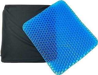 コモライフ 衝撃吸収の柔らかいクッション カバー付き ゲルクッション 座布団 体圧分散 洗える カバー 無重力 ハニカム構造