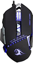 Night Hawk NM101 FPS Gaming Mouse with Colourful RGB Breathing Backlight, 8 Customizable Buttons and Upto 3200 DPI (Metallic Series), Black
