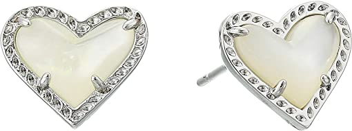 Rhodium Ivory Mother-of-Pearl