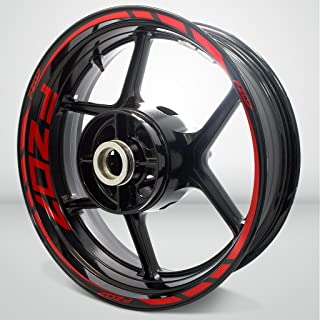 Gloss Red Motorcycle Rim Wheel Decal Accessory Sticker For Yamaha FZ07