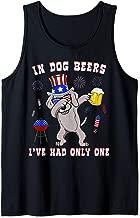 Weimaraner American Flag Sunglasses Uncle Sam Hat USA Dog Tank Top
