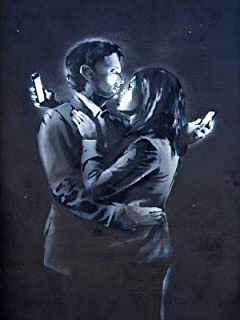 Banksy Mobile Lovers Canvas Art Print Picture 20