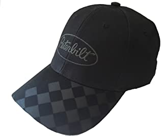 Peterbilt Motors Black Checkered Bill Cap