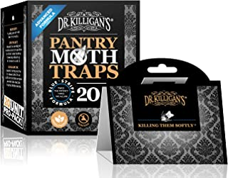 Dr. Killigan's Premium Pantry Moth Traps with Pheromones Prime   Safe, Non-Toxic with No Insecticides   Sticky Glue Trap for Food and Cupboard Moths in Your Kitchen   Organic (20, Blk)