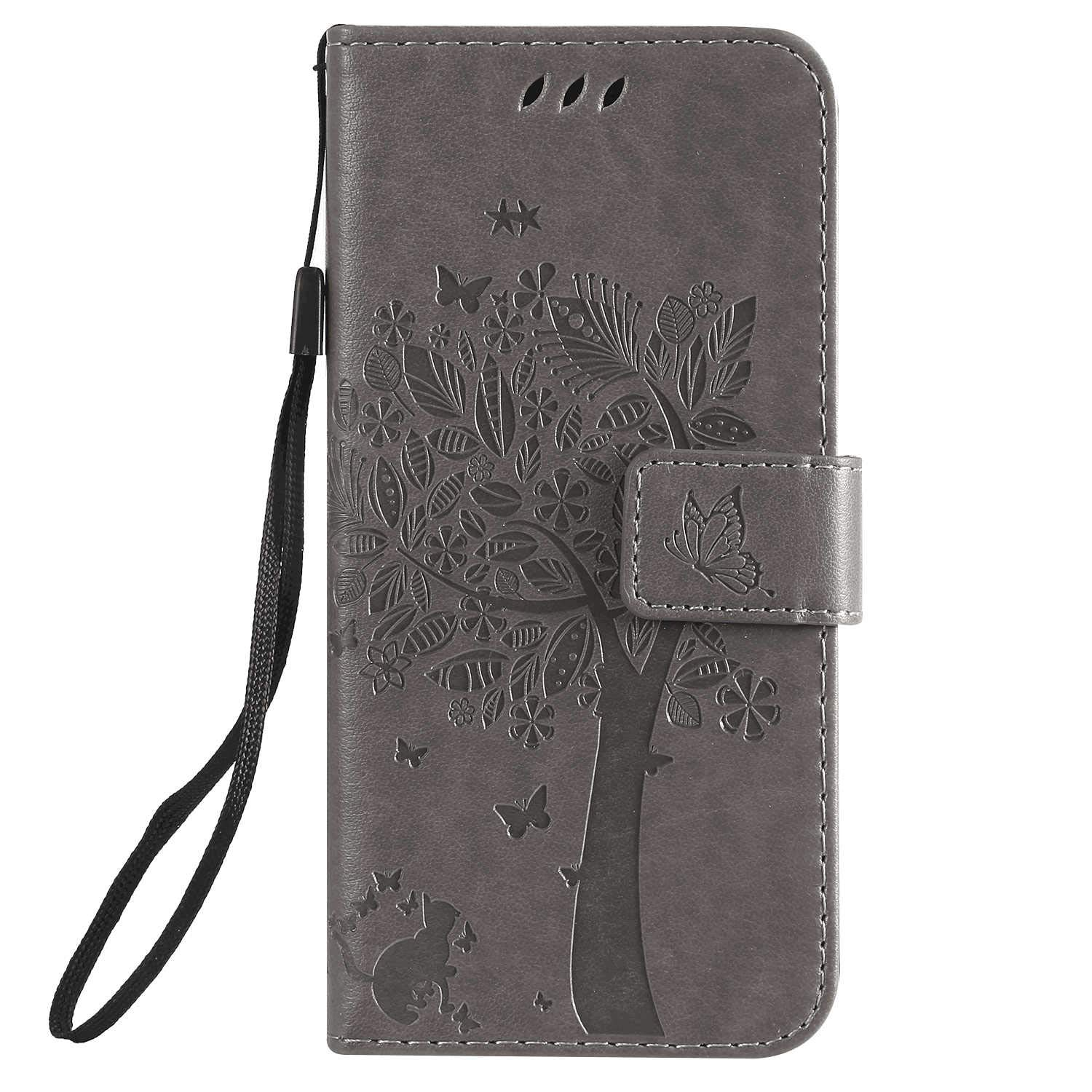 red Wallet Case for Samsung Galaxy S10e Leather Cover Compatible with Samsung Galaxy S10e