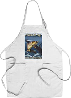 Echo Lake, Pennsylvania - Catch a Tag - Cutthroat Trout 100491 (Cotton/Polyester Chef's Apron)