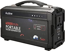 Audew Portable Inverter,Portable Battery Generator Power Source-Lithium Battery Power Supply with 12V DC/110V AC/USB Outputs (220Wh)