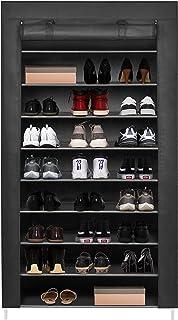 Meerveil Rangement de Chaussures Armoire à Chaussure en Tissu Étanche Étagères à Chaussures 9 Couches Etagères de Rangemen...