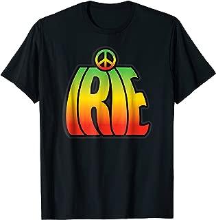 IRIE Peace Symbol Jamaican Reggae Rasta T-Shirt for Everyone