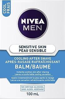 NIVEA Men Sensitive Skin Cooling After Shave Balm (100mL), Aftershave for Sensitive Skin, No Drying Alcohol, Instantly Soo...