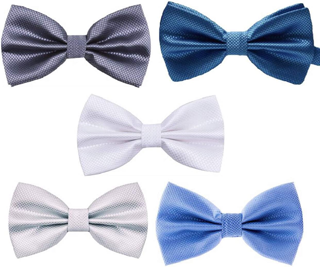 CareerGear 5 PACK Formal Adjustable Pre-tied Bow ties for Men and Boys in different variations
