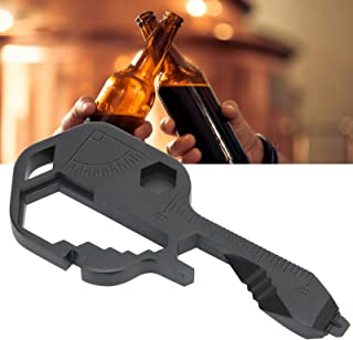 Key Shaped Bottle Opener, 24 In 1 Key Tool, for Adventurers Backpackers Hikers Bicyclists(black)