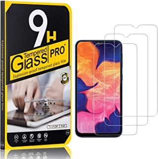 9H Screen Protector Compatible with Galaxy M20, CUSKING Tempered Glass Screen Protector for Samsung Galaxy M20, Anti Scratch, High Transparency, 3 Pack