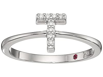 Roberto Coin Tiny Treasure Initial T Love Letter Ring (White Gold) Ring