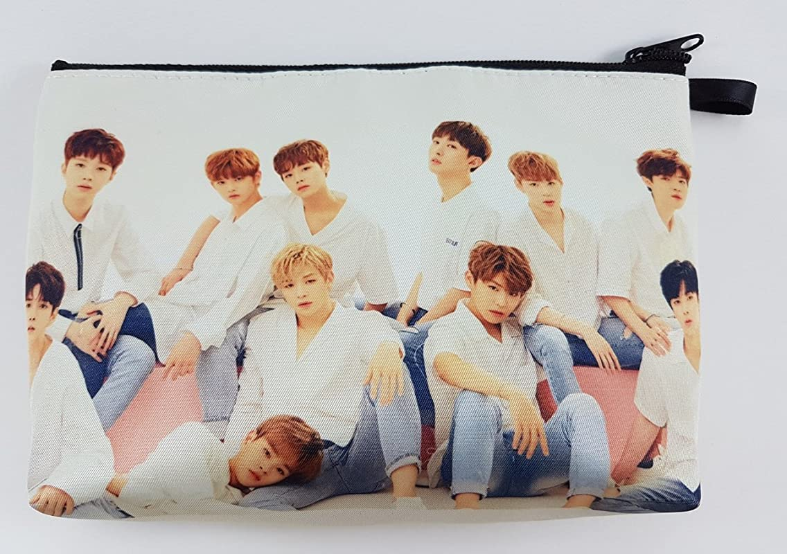 Wanna One KPOP BIG Zip Pen Pencil Stationery / Cosmetic Makeup Case Bag Pouch WAN-002