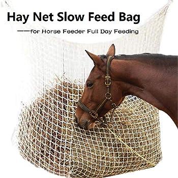 60x90 cm Filet /à Foin en Nylon Tiss/é Approvisionnement pour Cheval DEDC Sac /à Foin /à Alimentation Lente Adapt/é /à Animaux de Foin Alimentation