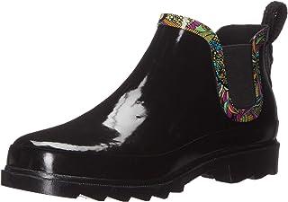 حذاء مطر برقبة طويلة للكاحل للنساء من ذا ساك, (Black With Rainbow Spirit Desert), 38 EU