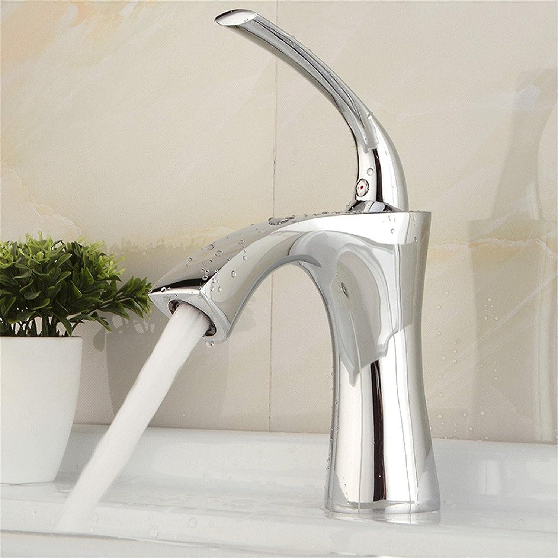 Bijjaladeva Wasserhahn Bad Wasserfall Mischbatterie Waschbecken Waschtisch Armatur Waschbeckenarmatur für BadezimmerDie Küche Voller Messing Thermostat Waschbecken Wasserhahn