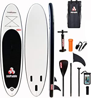 OddPaddle Inflatable Stand Up Paddle Board W Free Premium SUP Accessories &,Backpack, Non-Slip Deck. Bonus Waterproof Bag,...