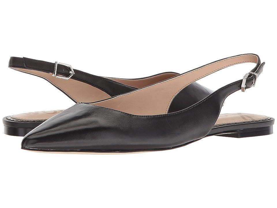 Sam Edelman Raya Slingback Flat (Black Dress Nappa Leather) Women