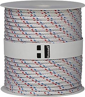 Hummelt Rope Schot Seil Polyesterseil 4mm 100m weiß/blau/rot auf Rolle
